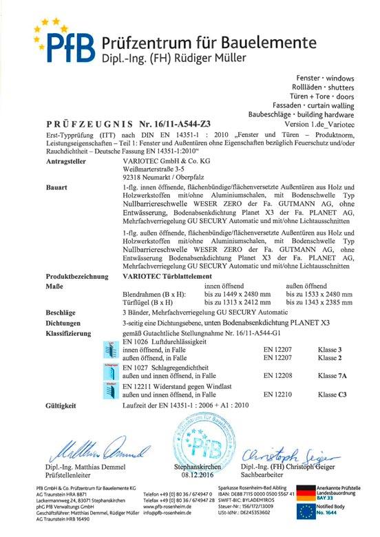 Variotec Planet Prüfzeugnis-A544-Z3 12-2016-PfB