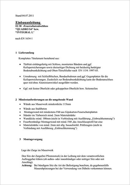 Einbauanleitung Integral Q, Integral L, Register-8