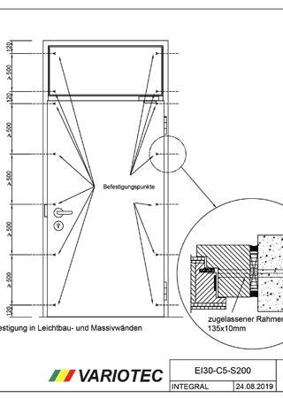 Variotec Einbauanleitung Integral 1-flueglig EI30