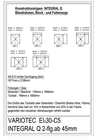 Variotec-Übersicht Brandschutz EI30-Integral Q 2-flüglig_Bl_F_Holz