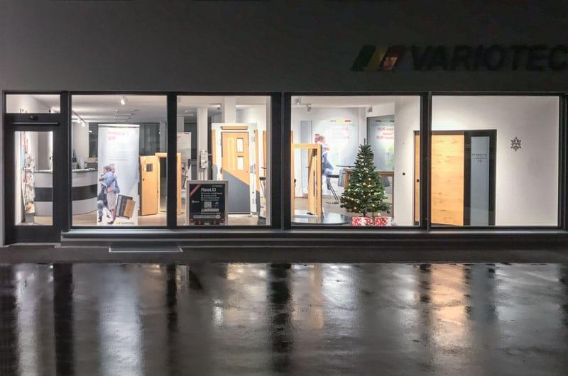 Öffnungszeiten der neuen Variotec Türen-Ausstellung