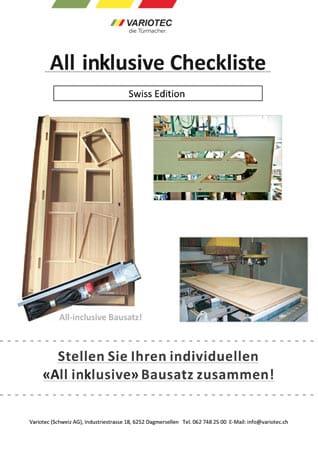 Bild Titel Variotec All inklusive Checkliste Swiss-Edition 2020