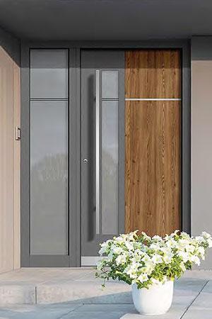 Holz- und Holz-Aluminium Haustüre