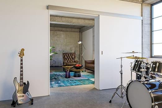Bild Schallschutztür Hawa-Suono von Variotec in Loft Musik-Übungsraum