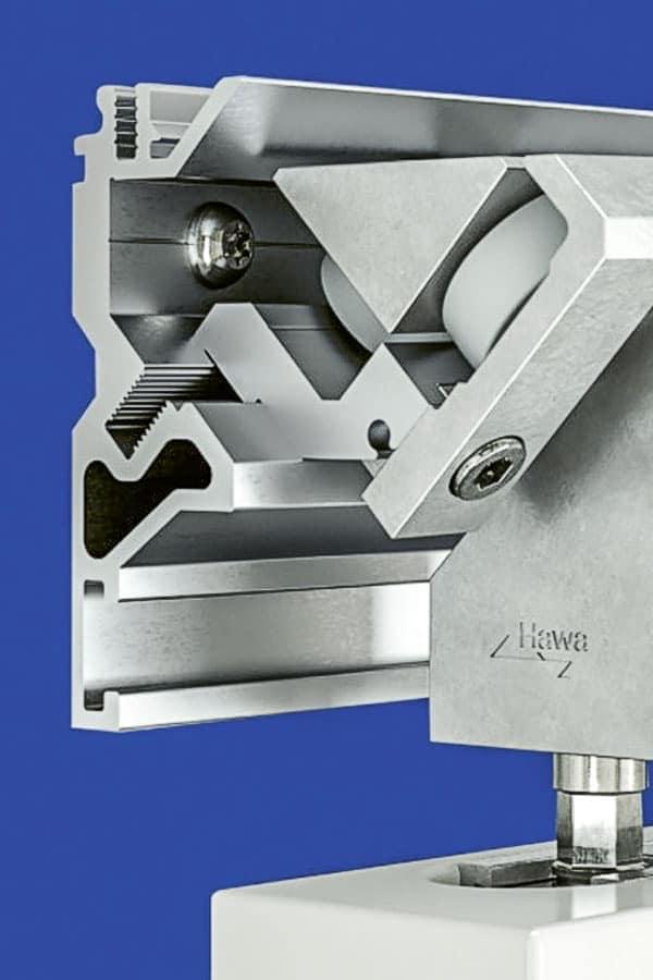 Bild HAWA Suono Schiebetür-Beschlag mit 3D-Mechanik